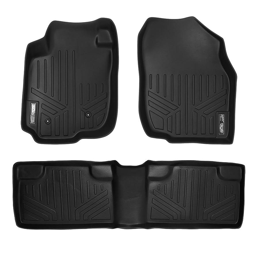 SMARTLINER Custom Fit Floor Mats 2 Row Liner Set Black for 2006-2012 Toyota RAV4 Without 3rd Row Seat