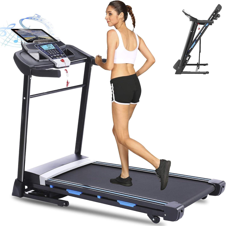 ANCHEER Folding Treadmill 3.25HP Treadmills quality assurance Motorized Electric Ranking TOP9