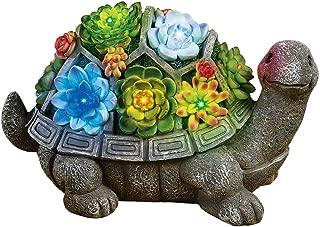 Collections Etc Turtle Garden Statue Solar Lighted Animal Sculpture Decoration
