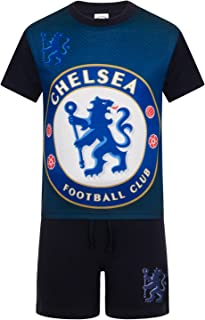 Chelsea Football Club Official Soccer Gift Boys Kids Short Pajamas