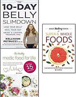 10-day belly slimdown, hidden healing powers of super & whole foods and healthy medic food for life 3 books collection set...
