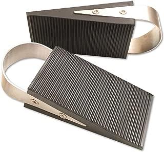 Super Door Stop Rubber & Stainless Steel Wedge, 2-Pack