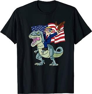 Trump 2020 Eagle Gun Trump On T Rex Dinosaur Tshirt Gift