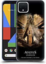 Official Assassin's Creed Gold Shilling Necklace Syndicate Logo Art Soft Gel Case Compatible for Google Pixel 4