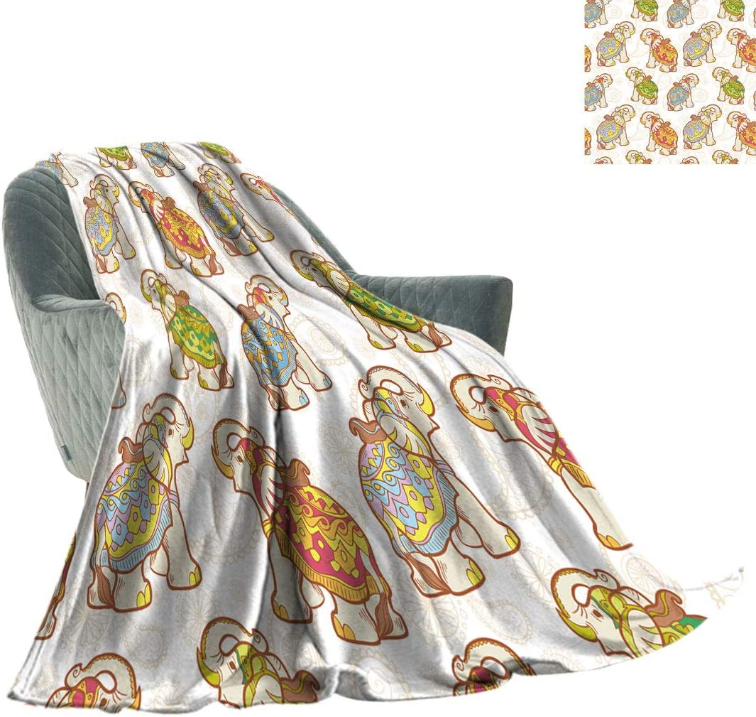New arrival Daniohome Animal Soft Travel Illustration Cute Blanket Elephant Cheap super special price