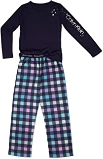 Calvin Klein Girls 2 Piece Sleepwear Top and Bottom Pajama Set Pj