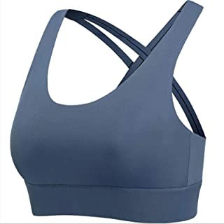 S-XXXL Hot Sports Bra Yoga Shirt Women Cross-Back Sports Top Bra Big Lady Sexy Sportswear Push Up Underwear Plus Size