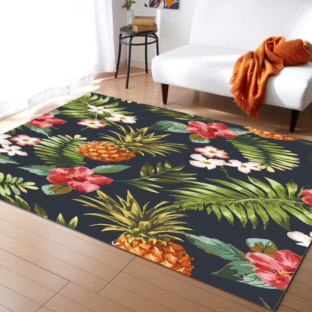 Fantasy Staring 予約 Non-Slip Area Rugs Room Leave Tropical Palm Mat- WEB限定