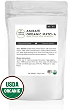 Akira Matcha 100g - Organic Premium Ceremonial Japanese Matcha Green Tea Powder - First Harvest, Radiation Free, No Additives, Zero Sugar - USDA and JAS Certified (3.5oz bag)