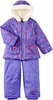 Pacific Trail Infant & Toddler Girls Purple Heart Snowsuit Ski Bibs & Coat Set