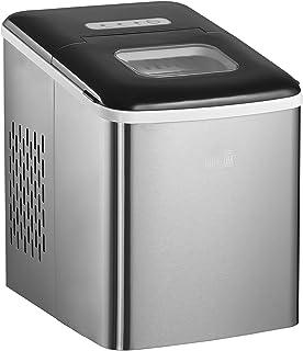 Machine à glaçon 120 W - capacité réservoir eau 1,8 L - capacité réservoir glace 0,8 Kg - pelle et panier inclus - PP acie...