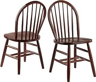 Windsor Wood Chair 2-Pack (Walnut)