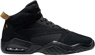 Lift Off - Men's Black/Metallic Gold Leather Basketball Shoes