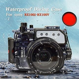 Sea Frogs Sony RX100/RX100 II/RX100 III/RX100 IV/RX100 V 対応60m / 195ft水中カメラ防水ハウジングケース防水プロテクター 水中撮影用 並行輸入品