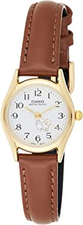 Casio Women's White Dial Leather Analog Watch - LTP-1094Q-7B7RDF