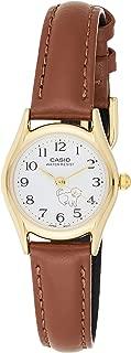Casio Casual Watch Analog Display Japanese Quartz For Women Ltp-1094Q-7B7, Brown Band