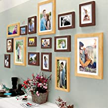 Art Street Shooting Star Wall Photo Frame for Living Room Set of 16 Pcs Photo Frames, Brown & Beige Color