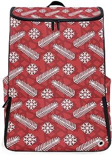 Malplena Mochila de senderismo para acampada al aire libre, color rojo Navidad estilo nórdico mochila de viaje