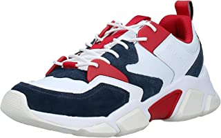 Tommy Hilfiger Chunky Material Mix Men Sneakers, Red (Rwb)
