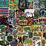 BLOUR 50 Pegatinas de Tortugas Ninja Mutantes Adolescentes para teléfono móvil, Taza de Agua, Maleta para portátil, Personalidad Creativa, Pegatinas Decorativas de Graffiti a Prueba de Agua