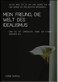 Mein Freund, die Welt des Idealismus: ALLES, WAS ICH JE BIN UND WERDE, BIN ICH UND WERDE ICH SCHLECHTHIN NOTWENDIG (Heinz ...