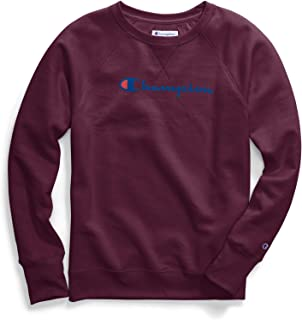 Champion Women Plus Powerblend Fleece Crew Graphic-2C Champion Script