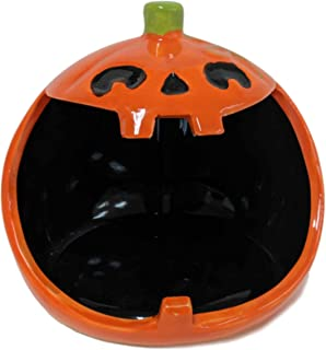 Halloween Open Mouth Candy Bowl Trick or Treat Dish in Ceramic - Pumpkin