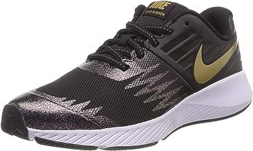 Nike Kids' Grade School Star Runner Running Shoes (7, Black/Gold)