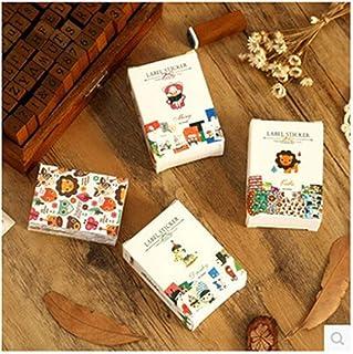 Excellent 52 pcs/lot cute pattern paper matchbox sticker sticky decoration decal diy album diary scrapbooking Creative sta...