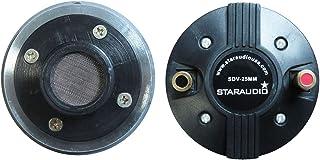 STARAUDIO 25MM 8Ohms Titanium Driver Tweeter,Of Compression Screw-on Horn Speaker Driver Tweeter,For Repair Pro PA,DJ Powered Speaker Replacement SDV-25MM