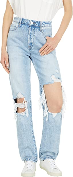 Lexington Skinny Pants with Destruction in Bed of Roses