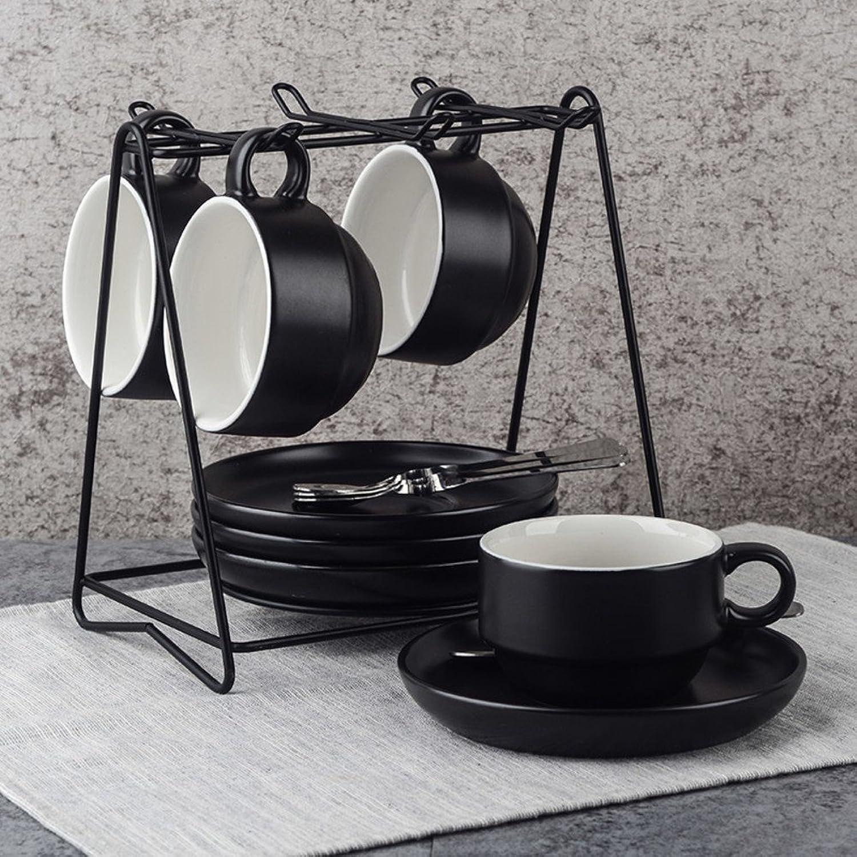 DUAN Coffee Cups Tasses à café Ensemble de Tasse de café en céramique 4-D