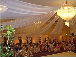 "10 Yards 120"" Wide Voile Chiffon Fabric Sheer Draping Drape Panel Dress Wedding (White)"