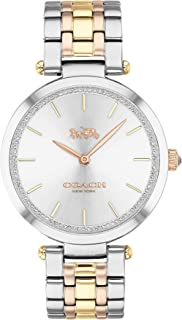 Coach Women's Silver White Dial Triple-Tone Stainless Steel Analog Watch - 14503508