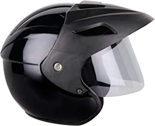 Mototrance TC-2100 Open Face Helmet (Black, L)