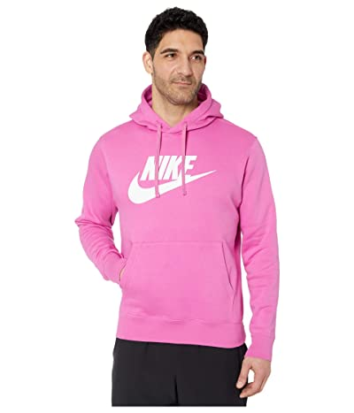 Nike NSW Club Hoodie Pullover Graphics (Active Fuchsia/Cosmic Fuchsia) Men