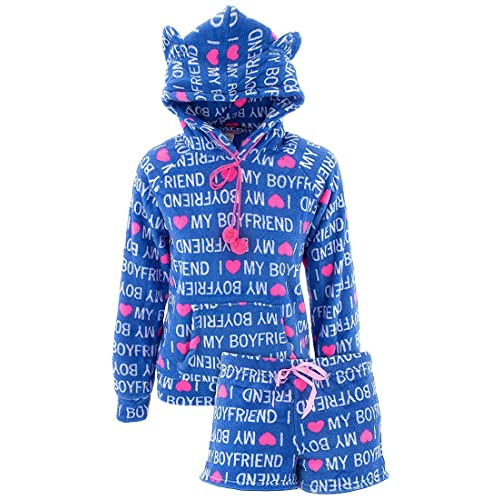 eb6c072d15af Emme Jordan Juniors Short Hoodie Fleece Pajamas