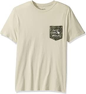 RVCA Men's PTC Leaf Short Sleeve Crew Neck Shirt