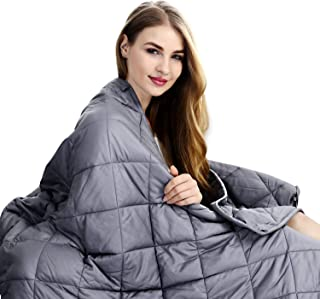 ShinePick Weighted Blanket Adult, 20 lbs | 60''x80'' | Premium Quality Heavy Blanket for Hot & Cold Sleepers (Grey)