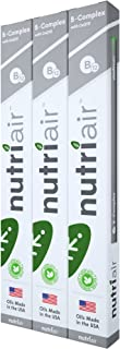 Nutriair B-Complex B12 Inhaler - Nutritional Aromatherapy Pen with CoQ10 – Essential B Vitamin/Energy Supplement - B12, B6, B2, B1 - Nicotine Free, Great Tasting Flavor with NO Calories - (3 Pack)