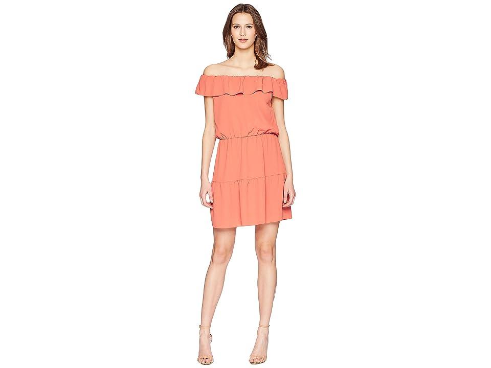 RED VALENTINO Summer Crepe Dress (Aragosta) Women