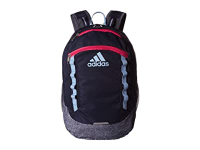 adidas Excel V Backpack (Collegiate Navy/Onix Jersey/Glow Blue/Real Pink) Backpack Bags