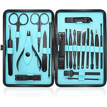 Zacro Atención Personal de Acero Inoxidable Cortauñas Manicura Pedicura Ear Pick Set 12 en 1: Amazon.es: Bricolaje y herramientas