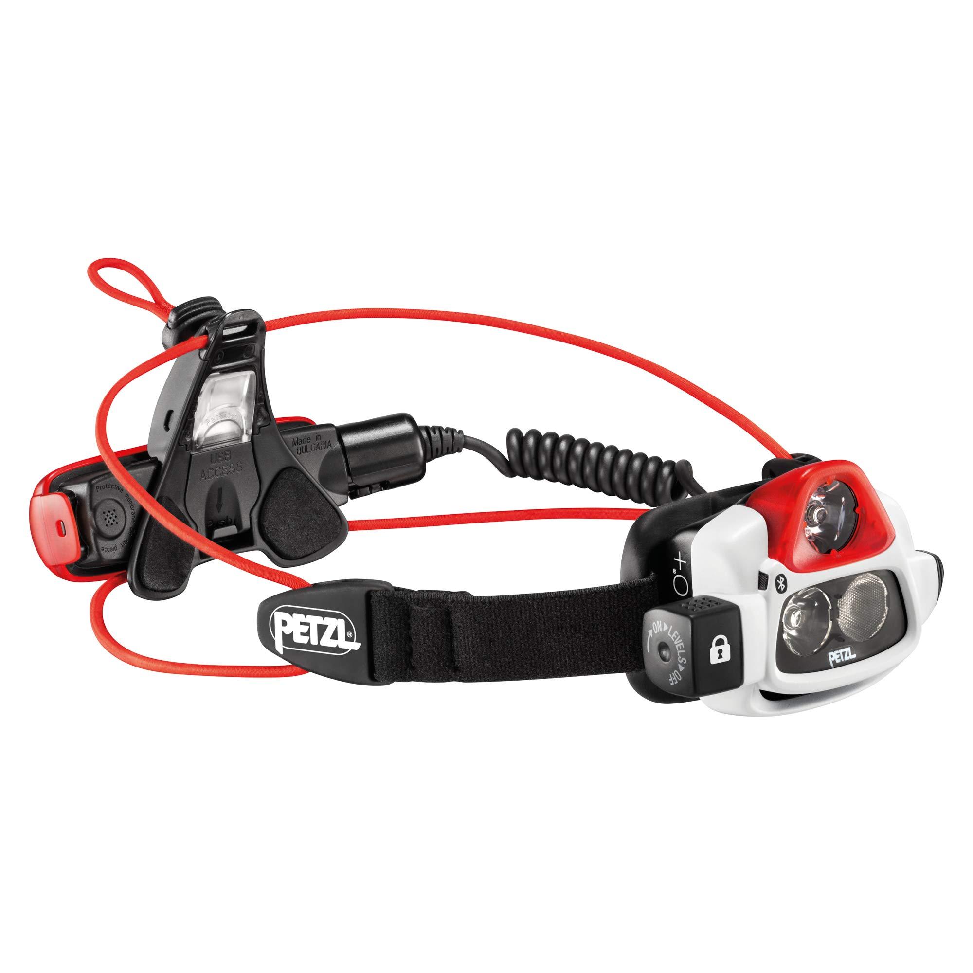 Petzl Erwachsene Nao Plus Stirnlampe, Black/Red, One Size