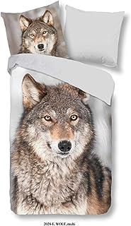Good Morning Flanell,Flanellbettwäsche, Bettwäsche Wolf, 135 x 200 cm