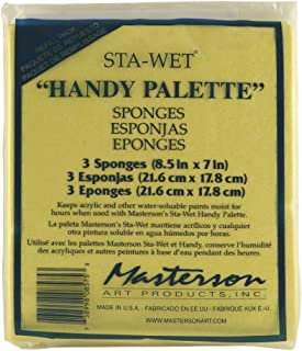 Masterson Sta-Wet Handy Palette pack of 3 handy palette sponges 8 1/2 in. x 7 in.