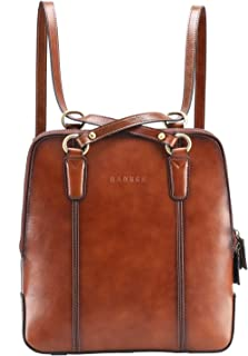 Banuce Brown Leather Convertible Backpack Purse for Women Fashion Handbags