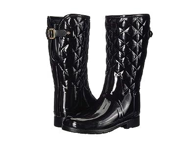 Hunter Refined Gloss Quilt Short Rain Boots