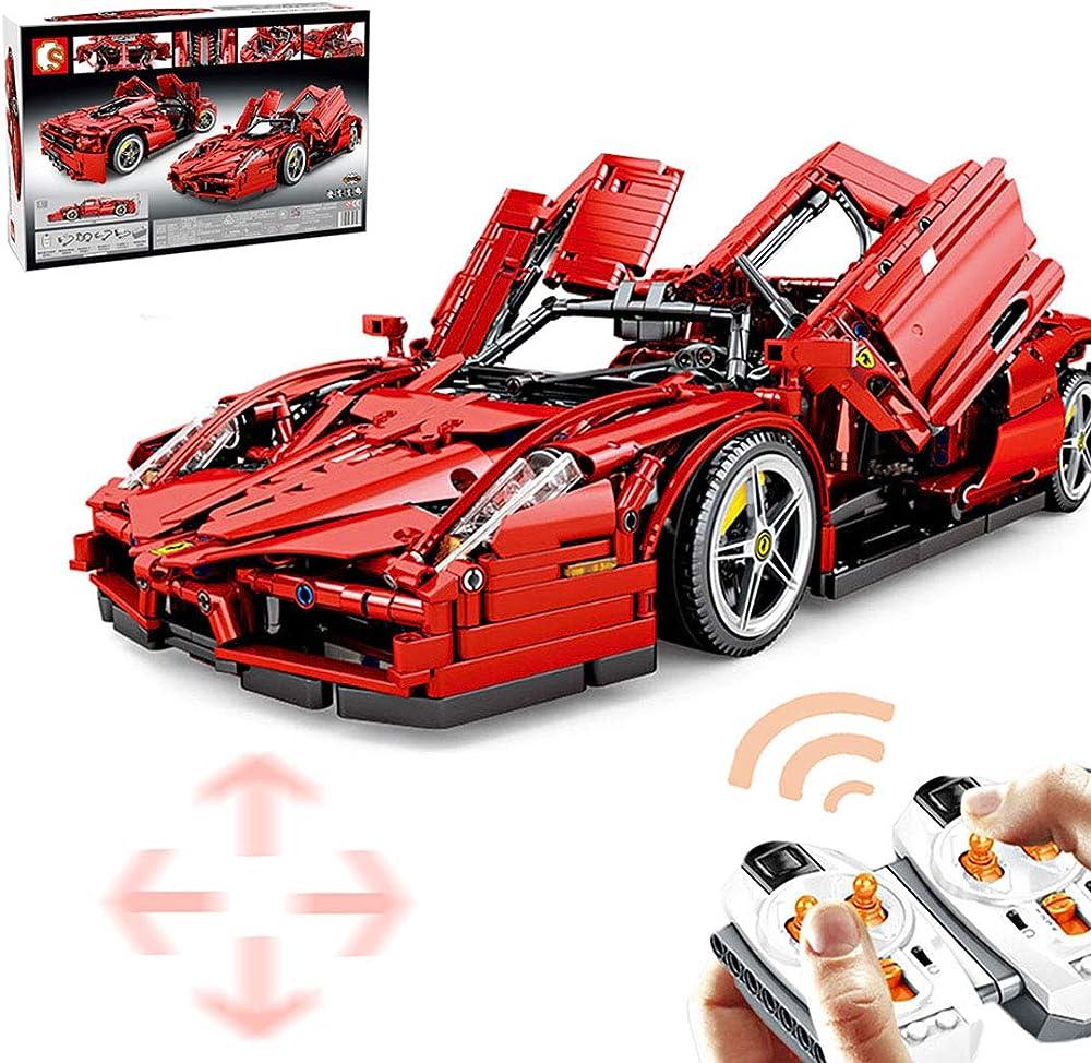 Ferrari enzo set di costruzioni 2615 pezzi, 1:10, auto telecomandata modello da collezione,compatibile con leg L35D6NUJ60318XNN7DCVW