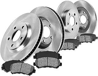 CRK13379 FRONT 280 mm + REAR 295 mm Premium OE 5 Lug [4] Rotors + [8] Metallic Brake Pads